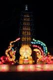 Dragon et lanterne de Phoenix Images stock