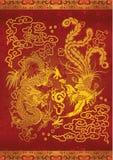 Dragon et Phoenix Photos stock