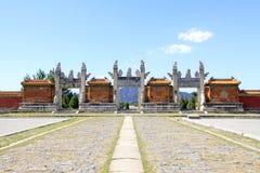 Dragon et porte de Phoenix dans les tombes royales orientales du Qing D Image stock