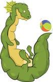 Dragon et une bille. Dessin animé Photo libre de droits