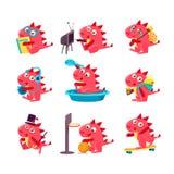 Dragon Everyday Business vermelho ilustração do vetor