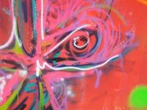 DRAGON eye. Wall painting,digital photography piromann Stock Photo