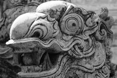 Dragon Face Sculpture Royalty Free Stock Images