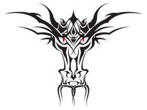 Dragon Face Tribal vector. Detailed vector of a tribal Dragon Face. Mouth shows hidden second face Stock Photos