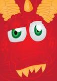 Dragon Face vermelho ilustração stock