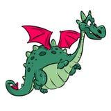 Dragon fairy animal cheerful cartoon illustration royalty free illustration