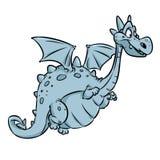 Dragon fairy animal cheerful cartoon royalty free illustration
