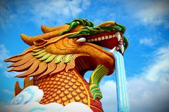 The dragon is a fairy tale Chinese animal. royalty free stock photo