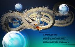 Dragon is fantasy animal in fairy tale. royalty free illustration