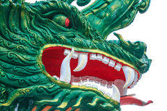 Dragon. Fierce Green Dragon in the Chinese Royalty Free Stock Photo