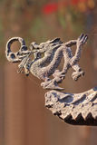 Dragon figure on a roof of a Taoist temple, Beijing, China Royalty Free Stock Photos