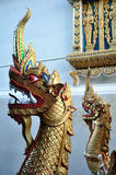 Dragon figures in a Thai temple Royalty Free Stock Photography
