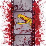Dragon and film strip. Vector film strip background with dragon (EPS 10 Stock Photos