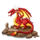 Dragon Fire animal cartoon Royalty Free Stock Photo