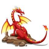 Dragon Fire animal cartoon Stock Image