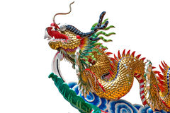 Dragon and fire ball Stock Photo
