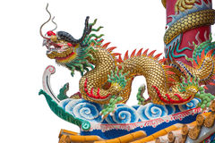 Dragon and fire ball. Dragon is sign of chinese culture Royalty Free Stock Photo