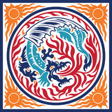 Dragon Fire Element Symbol Stock Images