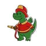 Dragon firefighter stock illustration