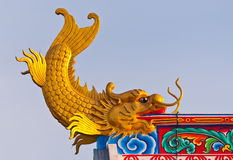 Dragon fish statue Royalty Free Stock Images