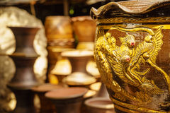 Dragon flower pot Royalty Free Stock Photo