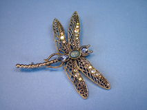 Dragon- fly brooch stock photos