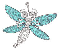 Dragon fly doodle. Stock Photo
