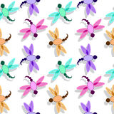 Dragon fly pattern Stock Image