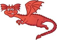 Dragon Flying Cartoon Royalty-vrije Stock Afbeeldingen
