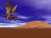 Dragon Flying Home royalty free stock photography