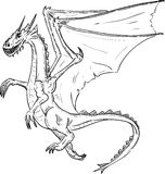 Dragon flying Royalty Free Stock Photography