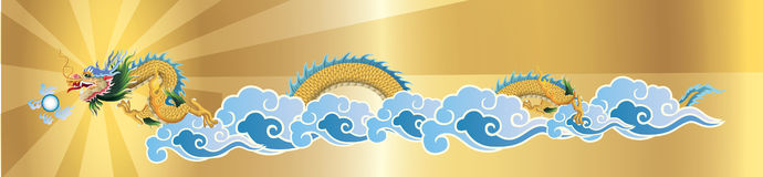 Dragon flying on the sky Royalty Free Stock Image