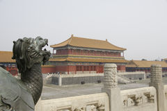 Dragon in the forbidden city Royalty Free Stock Images