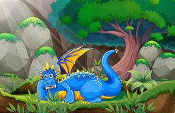 Dragon and forest Royalty Free Stock Photos