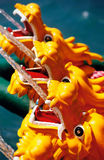 Dragon Fountain. A row of plastic dragons pretending to be a fountain, Hong Kong stock photos