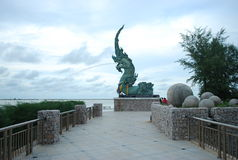 Dragon Fountain Stockfoto
