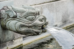Dragon fountain Chi Lin Nunnery Kowloon Hong Kong Stock Images