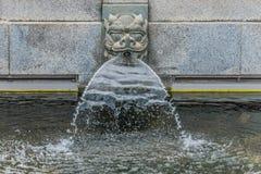 Dragon fountain Chi Lin Nunnery Kowloon Hong Kong Stock Photo
