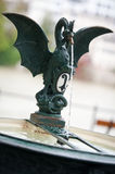 Dragon fountain with city coat of arms Basel Royalty Free Stock Image