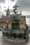 Dragon Fountain, City Hall Square in Copenhagen, Denmark Royalty Free Stock Photos