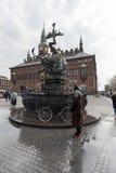 Dragon Fountain is een fontein in de Stad Hall Square in Kopenhagen wordt gevestigd dat, Stock Afbeelding