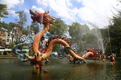Dragon fountain, Ho Chi Minh City Royalty Free Stock Photo
