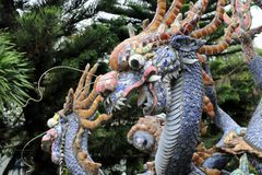 Dragon fountain in Hoi An - Vietnam stock photography