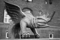 Dragon Fountain localizou em Copenhaga fotografia de stock