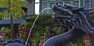 Dragon fountain. Photo taken while visiting Butchart gardens in Victoria B.C Stock Images