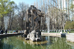 Dragon fountain. THE Dragon fountain AT RENMIN PARK,HAVE MANY YEARS TIME Stock Images