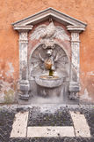Dragon fountain in Vatican, Rome, Italy Stock Photos