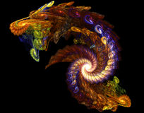 Dragon Fractal. Abstract Fractal Image of a dragon Vector Illustration