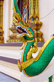 The Dragon. Fragment of temple decoration. Fragment of decoration of Thai's temple at Wat Plai Laem complex Stock Photo