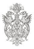 Dragon Frame Ornament Imagen de archivo